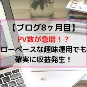 【ブログ運用8ヶ月目】PV数急増!?安定した収益も発生した8ヶ月目の詳細は…!
