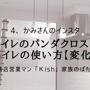 トイレのパンダクロスとトイレの使い方【変化】