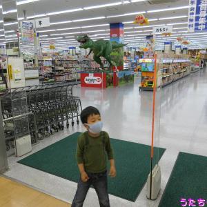 ヤマダデンキ蘇我本店に恐竜と新しいおもちゃ売場を見せに、うたちゃんを連れて行った♪(うたちゃん日記)