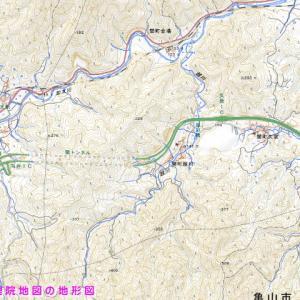 【名阪国道と弾丸道路】終戦後の航空写真で戦中の全国自動車国道網を回想する(その1)【カーブには何かある?関トンネル周辺】