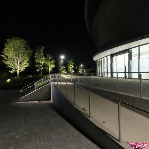 千葉JPFドーム間もなく完成夜景のようす♪(千葉公園ドーム、千葉県千葉市中央区弁天)