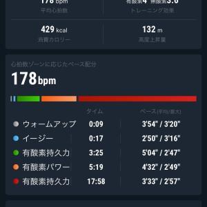【インターバル】1200m×5 久しぶりの練習