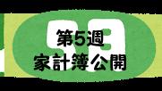 #44 2021年5月第5週の家計簿公開