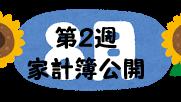#68 2021年8月第2週の家計簿公開
