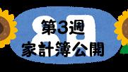 #69 2021年8月第3週の家計簿公開
