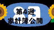 #70 2021年8月第4週の家計簿公開