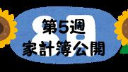 #71 2021年8月第5週の家計簿公開