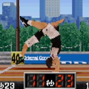 PS『筋肉番付』第4回ラヒラヒ杯 (COM戦) 第8競技 - バック転50m走