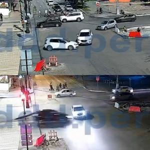 [動画1:29] 二日連続、同じ事故が起きる交差点
