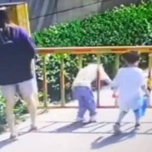 [動画0:49] ゲートの隙間を通る子供、とんでもないことに・・・