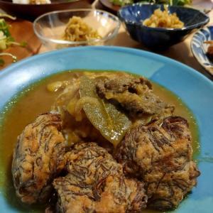もずくの天ぷらカレー