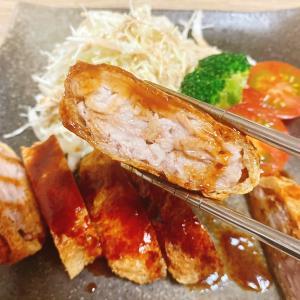 【豚こまレシピ】パン粉付けいらず!豚こま肉と油揚げで簡単やわらかジューシーとんかつ!