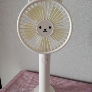 ダイソーのハンディ扇風機