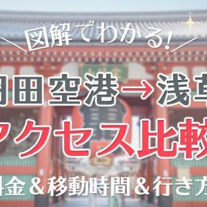 【羽田空港→浅草】アクセス図解比較!料金・時間・行き方