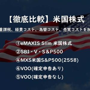 【S&P500投資ならこれ!】徹底比較、米国株式 (eMAXIS、SBI、2558、VOO):経費、二重課税、為替・売買コストを考慮し比較!!