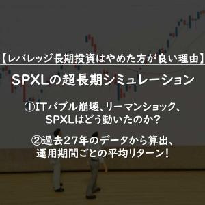 【ITバブル・リーマンショック】過去約30年チャートからシミュレーション:SPXL長期投資はやめとけ!