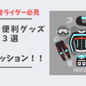 【初心者ライダー必見!】走って感じた「ツーリングにこれはいる!」な便利グッズ3選!