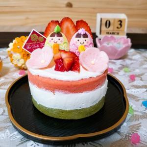 ひな祭りのネイキッドケーキ