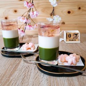 桜のグラススイーツ