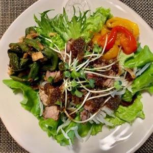 """肉サラダ """"  ローストビーフサラダ  """" 野菜でかさ増し"""