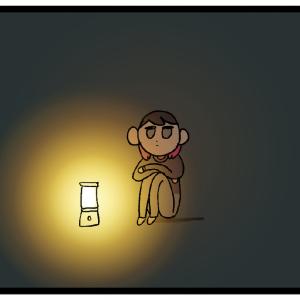 一人暮らし初心者だった頃、ランタンの灯りで夜を過ごしてた