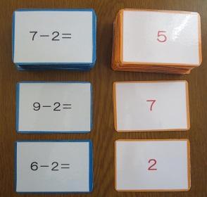 引き算カードゲーム(算数)