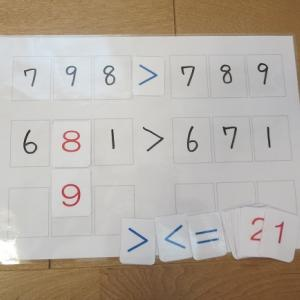 算数の学習支援「不等号ボード」