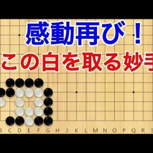 【囲碁】手筋力up講座!感動する妙手、この白の取り方をご紹介!