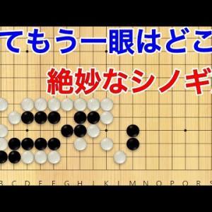 【囲碁】手筋力up講座!薄みを極限までつく旨いシノギ筋!