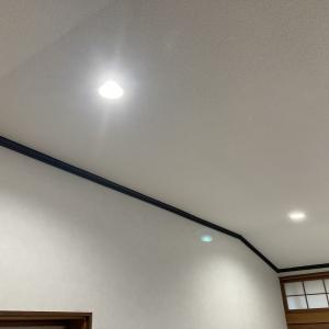 大崎市K様邸居間張替工事で照明Bluetooth?