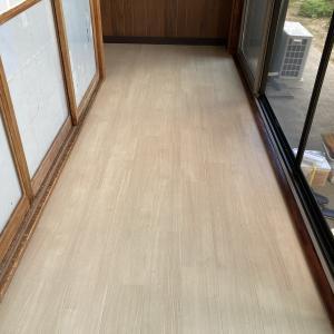 縁側床重ね貼り!クッションフロアー施工事例