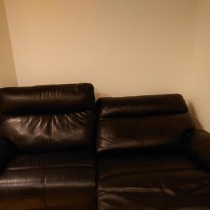 ソファー入れました+リビングにTVは置かない方が広く感じるかもしれない
