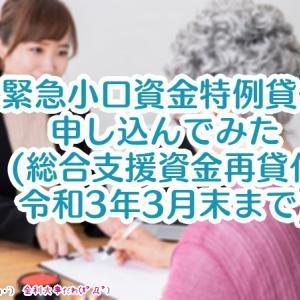 緊急小口資金特例貸付を申し込んでみた(仙台市の例・総合支援資金の再貸付は令和3年3月末まで)