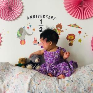 シンガポールで生まれた次女、ハーフバースデーを迎えました。