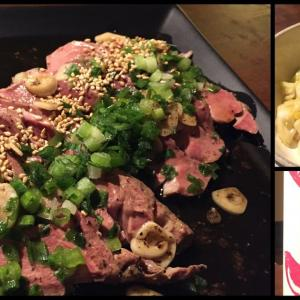 今夜の肴 豚レバーの和風コンフィ と 春キャベツと塩昆布のナムル