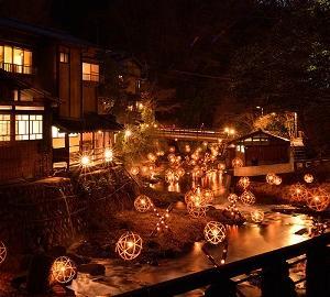 黒川温泉の湯あかり 熊本県の小国町