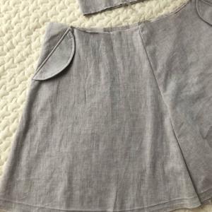 [製作中]「LaLaDress踊りだしたくなる女の子の服」フラップポケットのフレアーキュロット