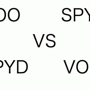 VOO vs SPYD  そんな争いは不毛。結局は入金力が勝負。