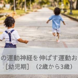 子どもの運動神経を伸ばす運動おもちゃ[幼児期](2歳から3歳)