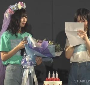 「おめでとぽ」STU48沖侑果 21歳の生誕祭スピーチ