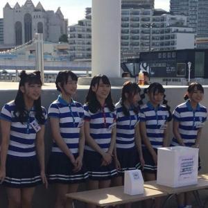 2018年8月のSTU48 神戸メリケンパークの「こうべ海の盆踊り」西日本豪雨の募金活動など