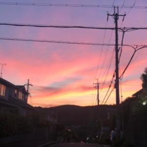 夕焼けを見ながらの散歩 (^^♪