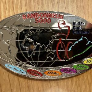 R5000の認定証とメダルが届きました