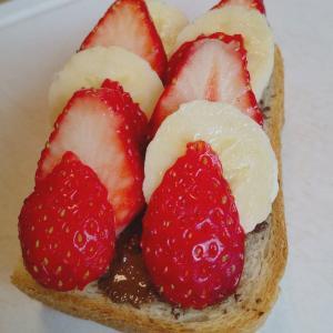 【いちごチョコバナナ】トースト