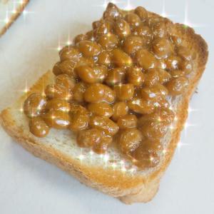 【納豆+お酢】トースト