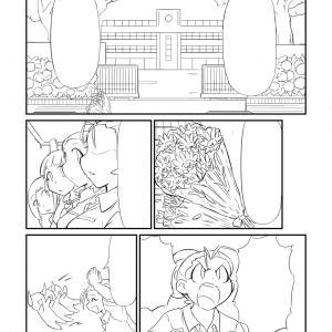 【2021年・14ページ目】梅雨のオリジナル漫画リメイク、線画で苦戦中。。