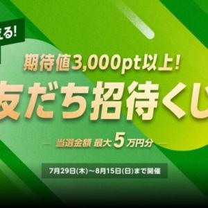 WINTICKETの友だち招待くじで最大50,000ptもらえます