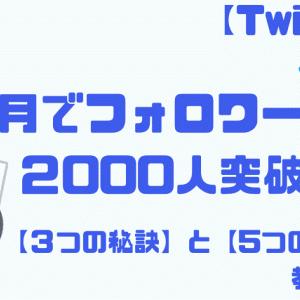 【Twitter】4か月でフォロワー2000人を突破した『3つの秘訣』と『5つの戦略』教えます!
