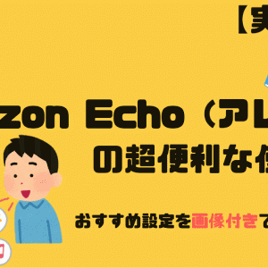 【実用的】Amazon Echo(通称:アレクサ)の超便利な使い方 おすすめ設定を画像付きで徹底解説!!