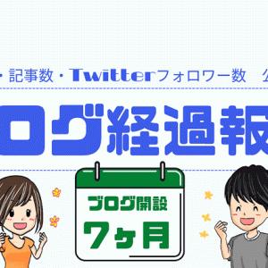 【ブログ経過報告(7ヵ月)】PV数・記事数・Twitterフォロワー数 一挙公開!!!!